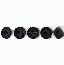 Wholesale preserved rose of 6-7cm head Black color for DIY material