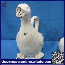 Popular best seller ceramic duck watering can