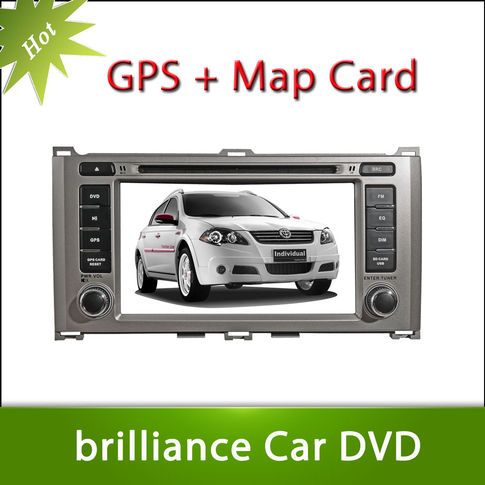 Hot 7inch Brilliance FRV Car DVD GPS Player Car Stereo Navigation Radio Audio Bluetooth A2DP Steering Wheel Control