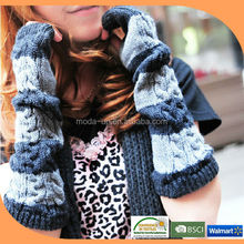 New 2014 cotton knit long fingerless gloves,long gloves wholesale alibaba
