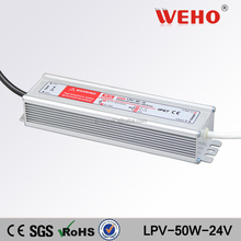 IP67 50w 2a waterproof power supply 24v led power