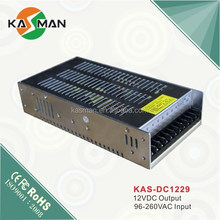 KAS-DC1229 KASMAN High quality Metal LED driver/switching power supply/converter 12V 15A 180W manufacture price