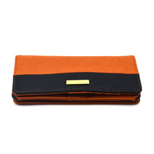Women lady PU leather long wallet