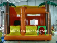 bouncy house, palm tree beach theme inflatable B3015