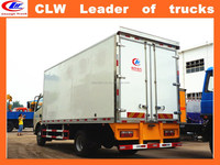 light refrigerated van Dongfeng 4*2 icice cream van 6 wheeler China special refrigerator van truck