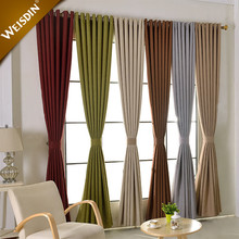 Wholesale latest designs colorful linen fabric hospital home hotel room blackout window curtain