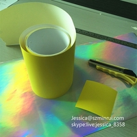 Custom Easy Breakable Destructible Label Paper,Yellow Face Security Fragile Vinyl Eggshell Sticker Paper In Rolls