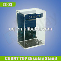 Customized counter display stands for electronics