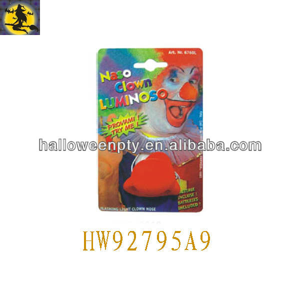 Red Lovely Flashing Foam Clown Nose Suitable for Unisex