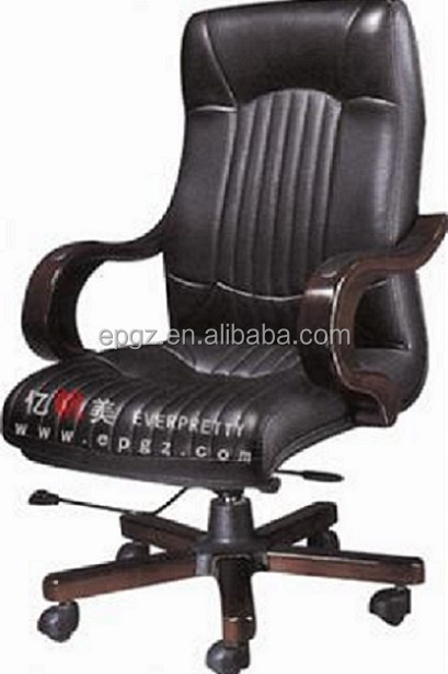 Office Furniture Boss Leather Chair, Genuine Leather Office Chair, Flexible Back Office Chair