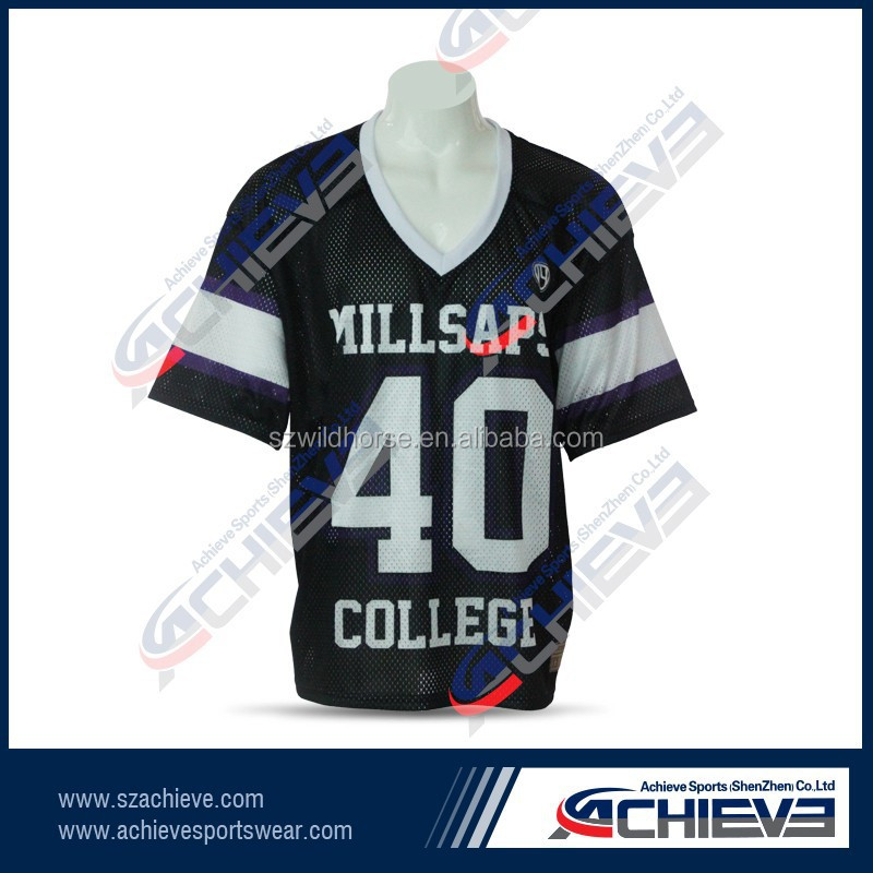 Customized Mesh Material 100% Polyester American Football Jersey