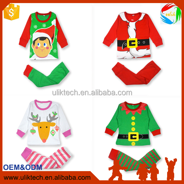 Cotton Kids Christmas sales Pajama Baby Clothes Boys And Girls Sleepwear Kids Nightwear Children Clothing Set Pajama Sets