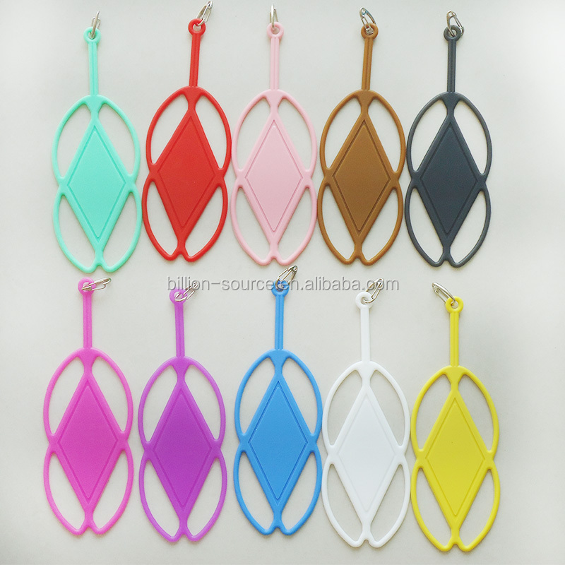 New Universal Silicone Lanyard Hang Rope Phone Case Cover with metal hook up for iphone 5/5S/6/6 Plus /Samsung All Phone Models