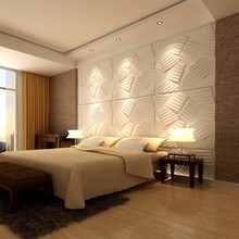 bamboo fibre materia bedroom 3d wall decor panels 3d board