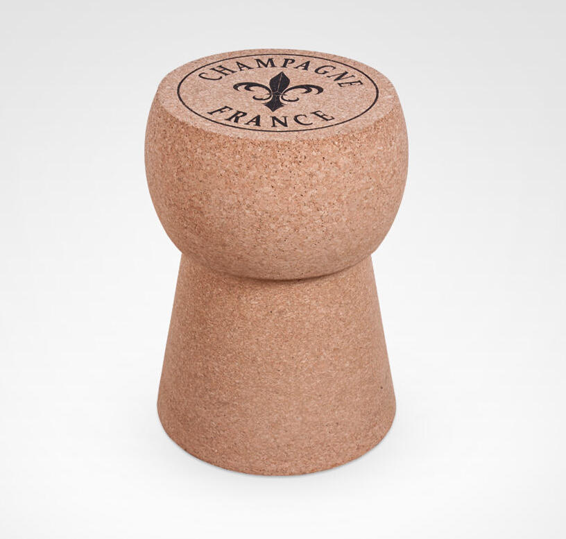 XL Champagne Cork Side Table