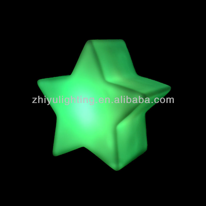 LED color changing portable battery operated star night light