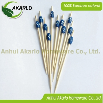 Disposable Bamboo Decorative Fruit Picks cocktail picks
