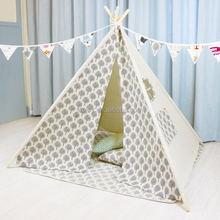 Pine wood frame pole tent for family