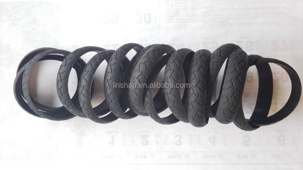 wholesale silicone road truck tyre bracelet for promotion