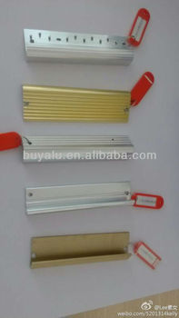 Professional in Silver and Gold Aluminum Tile Trim Profile