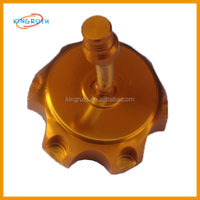 Chinese gold alloy fuel tank cap cover for dirt pit bike generator fuel tank cap