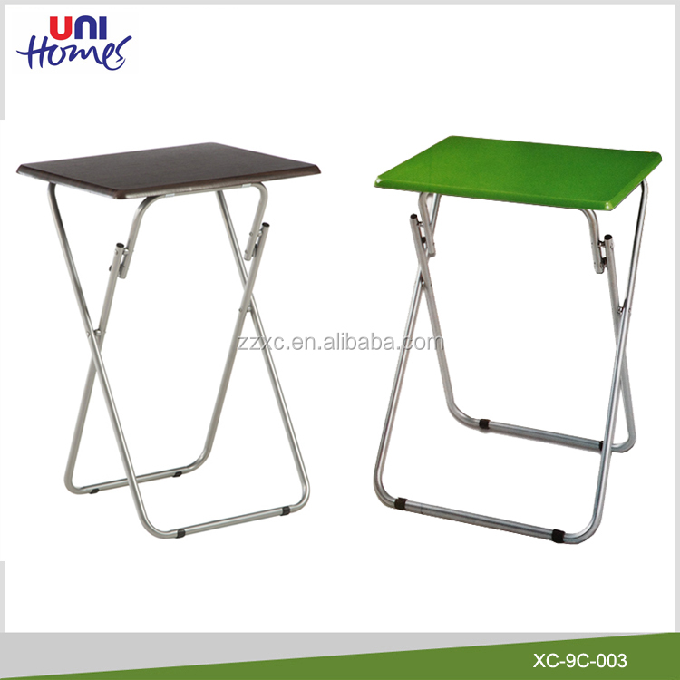 Small Portable Folding Table With Steel Legs