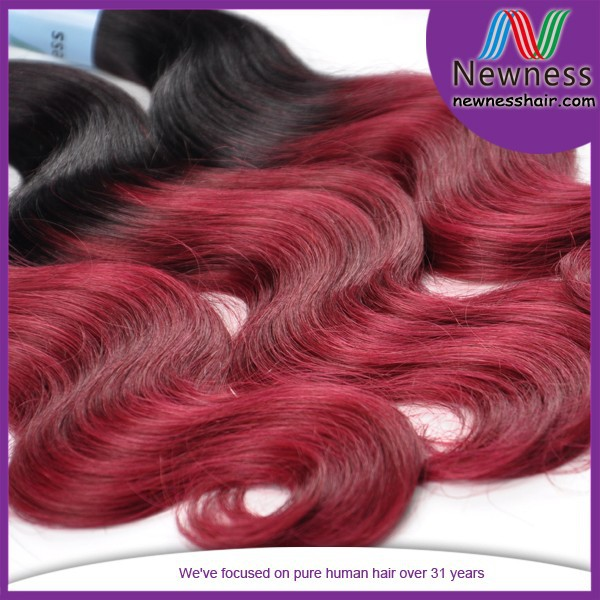 wholesale china human hair price body wave color 99j hair weave red braiding hair