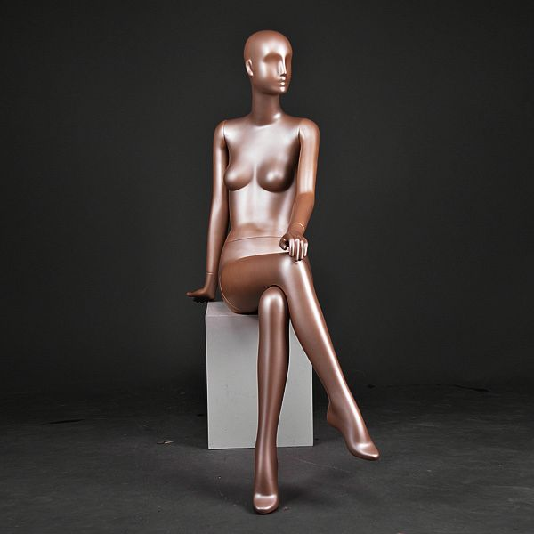 sitting sexy female mannequin for clothes shop