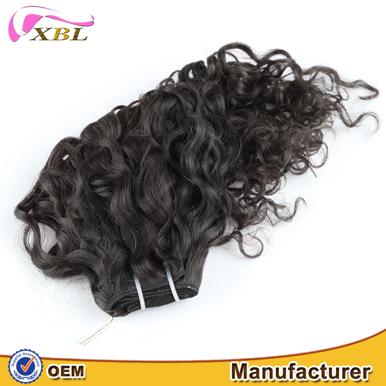 Premium quality healthy human virgin remy hair italian curl weave