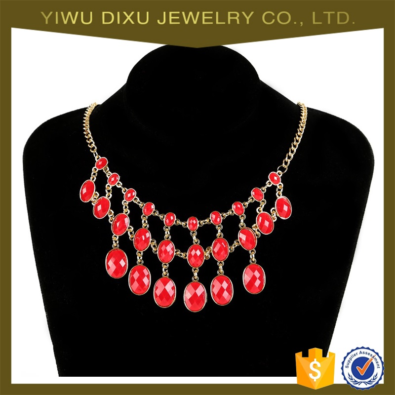 Yiwu Jewelry Factory Fashion Charm Necklace Ladies Big Chunky Neckalces Wholesale