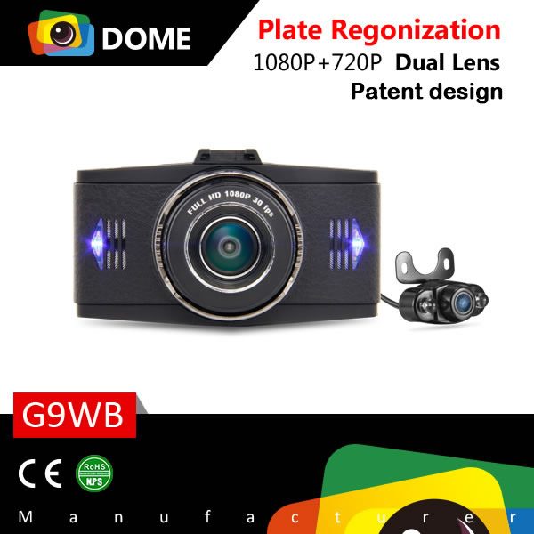 Dual Car Camera,3.0 Inch Screen 1080P Dual View Car Camera Recorder Front and Back