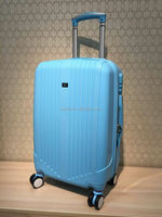 Colorful PP trolley travel luggage suitcase carry-on durable hard shell