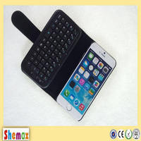 New arrive smart Bluetooth keyboard leather cover case for iPhone,For iphone 5c bluetooth keyboard case