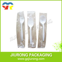 made in china disposable food grade cutlery plastic fork and spoon