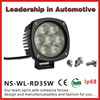 China supplier factory price 9-32V 35W ip68 cree offroad car led work light with life time warranty& ce, e-mark,rohs