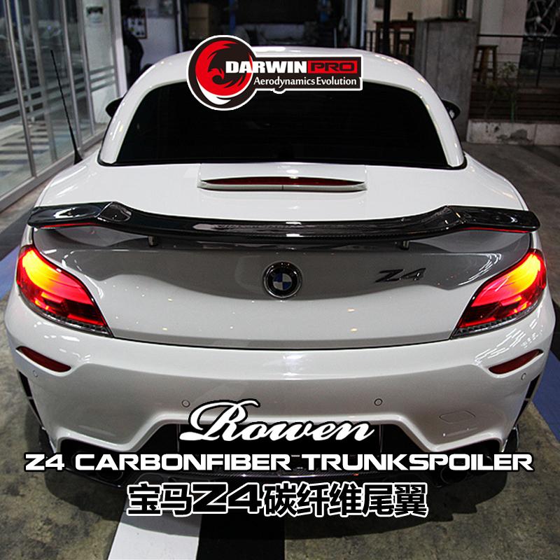 Bmw Z4 Boot: Carbon Fiber Trunk Spoiler Rear Spoiler For 2009-2014 Bmw