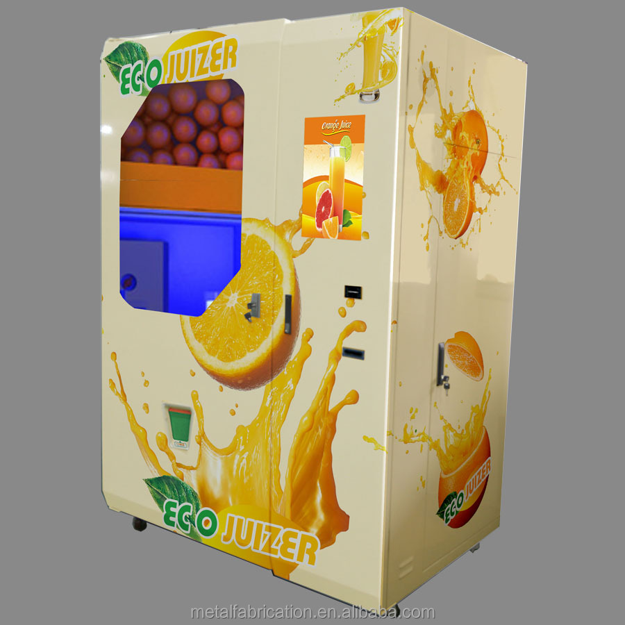 fresh squeezed automatic orange juice vending machine