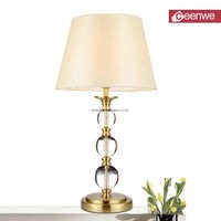 Competitive Price Living Room Metal home goods crystal table lamp