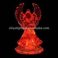 LED battery opearted color changing festival christmas promotion angel lamp