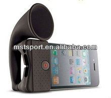 Horn stand speaker silicone case for iphone 4g