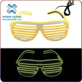 New Arrival Party Holidays Decorative LED EL Wire Glow Sunglasses Wholesale flashing party glasses