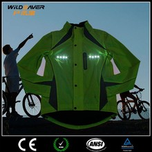 reflective motorcycle flashing led cycling jersey custom