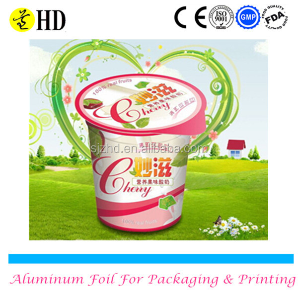 Alibaba China high quality printed pp primer alu foil for lids
