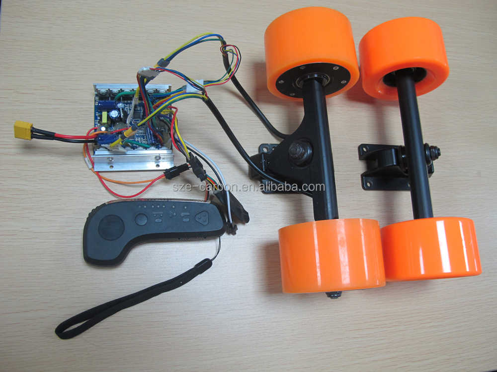 Selling hot 90mm dual hub-motors and FOC ESC with remote controller for Electric Skateboard