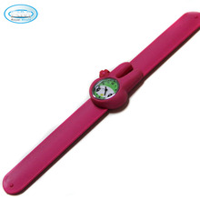 high quality cute animal silicone kids slap bracelet watches for grils