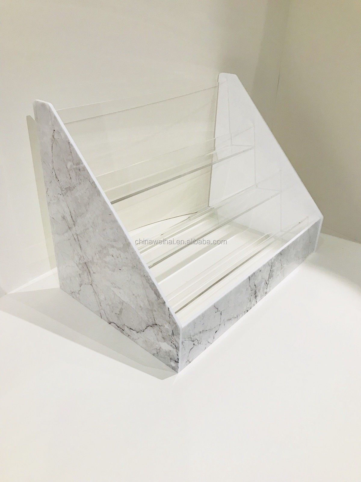 3 Tiers Marble Effect Acrylic Eyelash Display Rack Storage