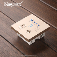Hot Design Wallpad Gold Wall Embedded AP Router Repeater Phone WPS USB Wireless Wall Charger Lan Rj45 3G WiFi Smart Socket