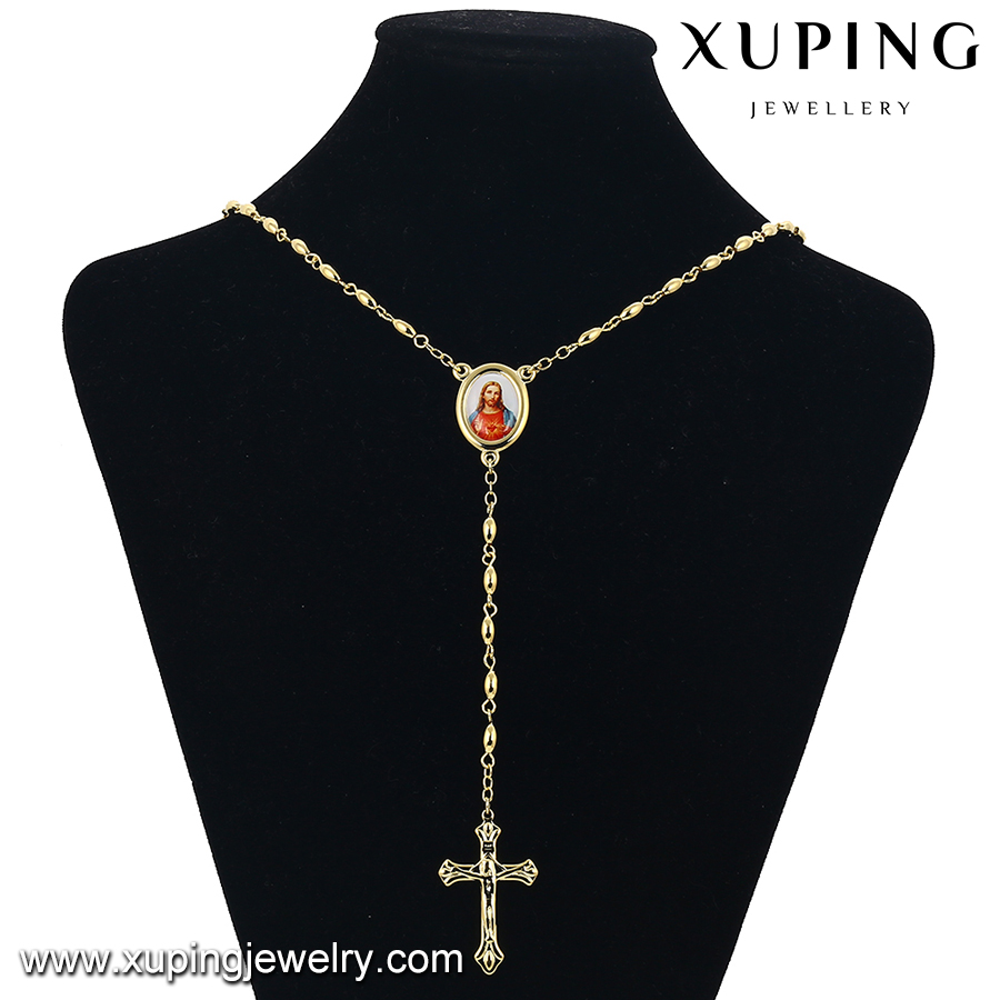 43059-xuping tassel necklace, latest design jewellery necklace swarna mahal jewellers necklace