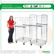 foldable supermarket cargo storage roll container