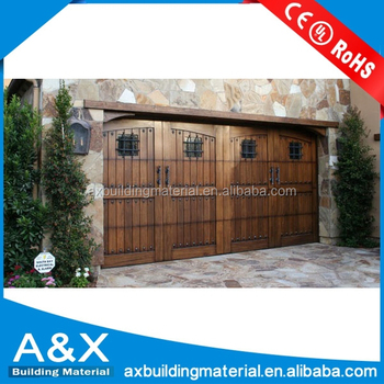 Wholesale residential sectional solid wood garage door